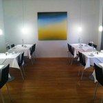 Breakfast room - lots of interesting art pieces!