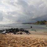 Poipu Beach; on the sandbar