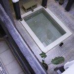 Plunge pool inside the Riad