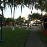Between pool and beach