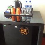 Not bad, free mini bar