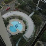 Hotel's pool-view from elevator