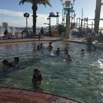 View of the water park and pool