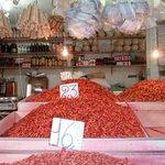 Crevettes séchées au marché de Sao Joaquim