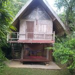The small size bungalow, 2 storeys, room up, hammock and shower down