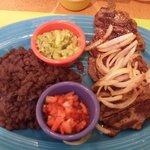 Carne Asada. Ordered with no rice.