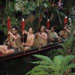 Maori War Canoe display
