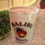 malibu buckets from beach bar!