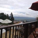 Vista de Villa de Leyva e montanhas