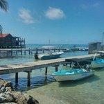El muelle de donde salen los buceos de Splash Inn Dive