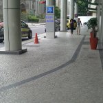 area externa do hotel