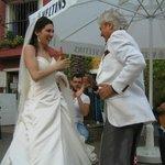 Aufführung zu einer Hochzeit