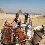 Visit to Giza. A camel ride and tea with Bedouins arranged by Ayman.
