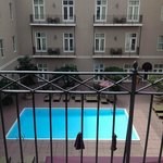 View from King Balcony Room, 4th Floor facing interior courtyard