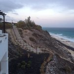 steep steps down to beach area