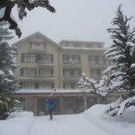 Hôtel en hiver