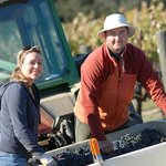 Winemaker Michael Larner and his wife Christina