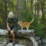 My husband and Kitty enjoying nature.