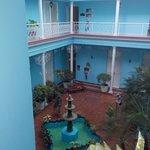 patio dans l'hotel