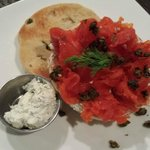 The Red Chair House Cured Salmon Lox & Horeradish Dill Cream Cheese
