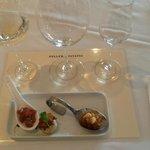 Degustação - harmonização de vinhos com canapés.