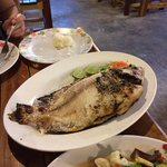 BBQ's red snapper with salt - no sauce