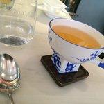 Jasmine tea in a beautiful cup