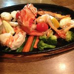 Broiled Seafood Platter - yum