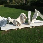 Marble sculture in the garden