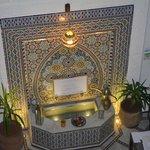 Fontana all'interno del Riad