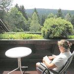 Balkon mit Aussicht zum Hausberg Ochsenkopf