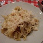 Les pappardelle à la crème de truffe