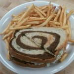 Reuben Sandwich with Homemade Marble Rye