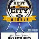 Best Italian Restaurant - Joe's Pasta House in Albuquerque the Magazines Best of the City