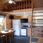 Duplex cabin with loft