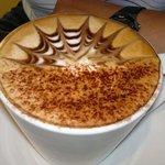 Sample of cappuccino art.