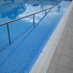 The pool has been adapted for those with mobility difficulties