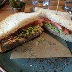 Fried chicken salad sandwich (very tasty)