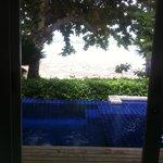 piscina, giardino e spiaggia