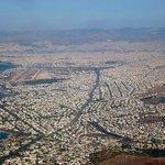 Athene vanuit de lucht