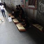 Street musicians in siam
