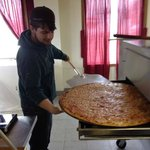 Pizzilla a 30 inch giant pizza.