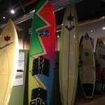 Surfboards through the ages.