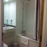 Bathroom - all gleaming white, nice and clean