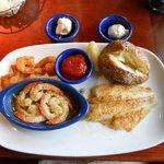 Seafood Sampler:  Fried, Scampi & Blackened