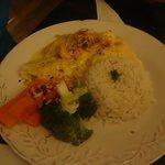 plato principal pescado con calamares