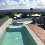 Roof top plunge pool and spa.