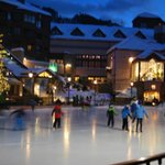 Step outside and you're right next to the town square and ice rink.