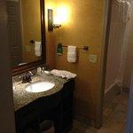 Bathroom-sink area