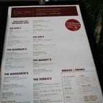 menu of bar